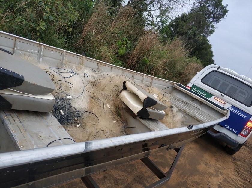 1.400 metros de redes são apreendidas em Linhares