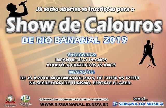 """Prefeitura realiza """"Show de Calouros"""" em Rio Bananal"""