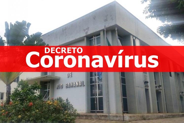 Prefeitura de Rio Bananal publica decreto com medidas de prevenção ao Coronavírus