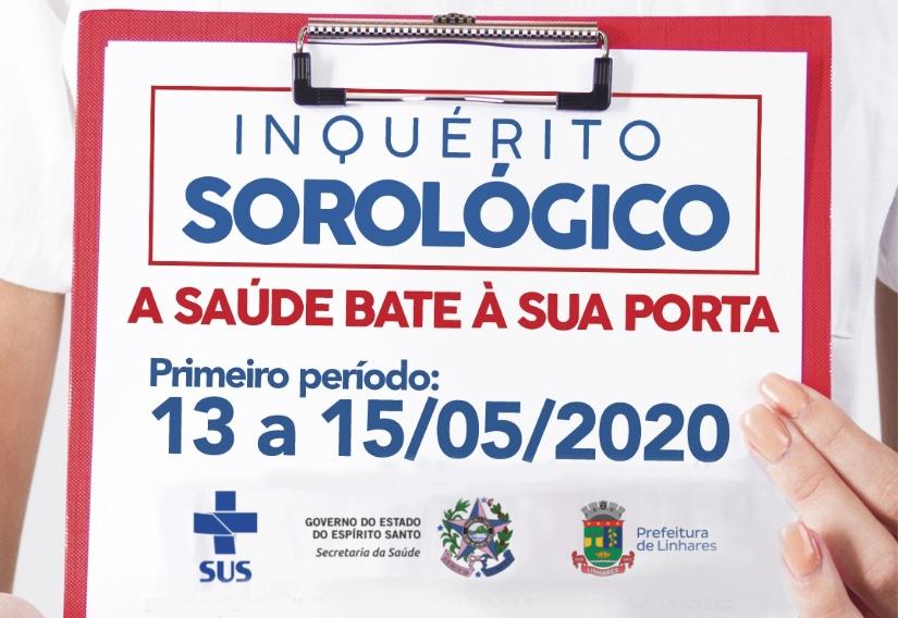 Saúde inicia Inquérito Sorológico do coronavírus em Linhares nesta quarta-feira (13)