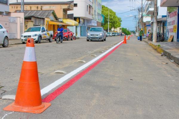 Ciclovias do Novo Horizonte recebem reforço na sinalização