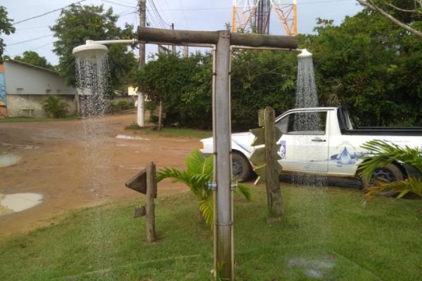 Pontal do Ipiranga, Regência e Povoação contam com chuveiros gratuitos