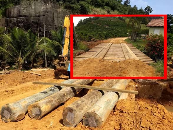 Prefeitura de Rio Bananal recupera pontes no interior do município